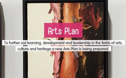 To further our learning, development and leadership in the fields of arts, culture and heritage a new Arts Plan is being prepared.