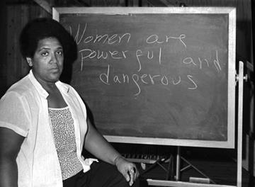 Audre Lorde. Photo credit: Robert Alexander/Getty