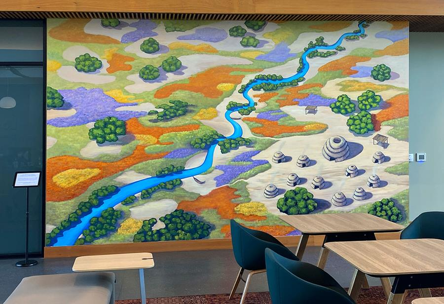 Indigenous Landscape Mural with Guidance from the Muwekma Ohlone Tribal Council